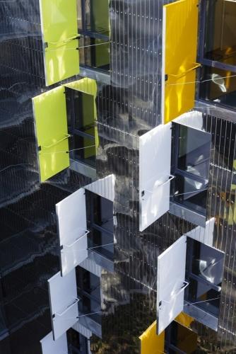 Photographie d'architecture extérieur réalisée pour Atelier Jean-Nouvel & HA Architecture. Bâtiment La Marègue. | Philippe DUREUIL Photographie
