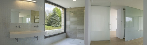 Photographie d'architecture panoramique intérieure d'une salle d'eau. | Philippe DUREUIL Photographie