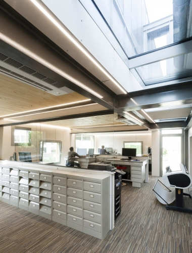Photo d'architecture intérieure, extension de bureaux. Architecte Thierry Bonne   Philippe DUREUIL Photographie