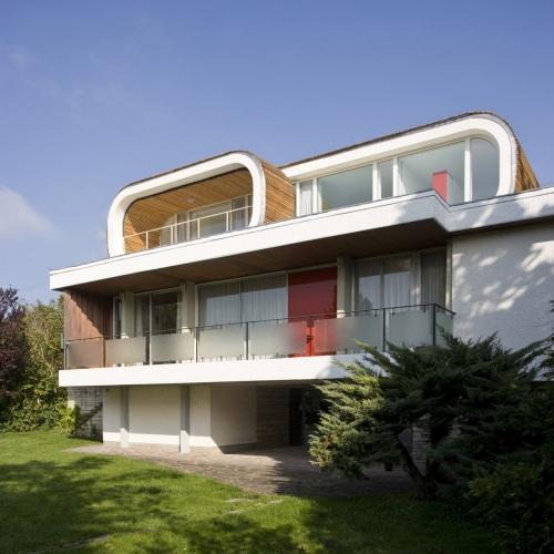 Photo d'architecture de l'extension d'une maison. Photo shootée pour les architectes S. Berthier et X. Bonnaud, agence Mesostudio | Philippe DUREUIL Photographie
