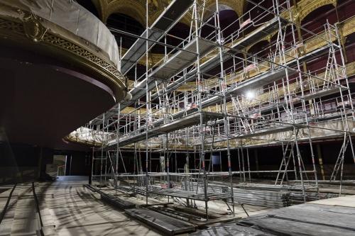 Reportage photographique sur le chantier de restauration du Théâtre du Châtelet à Paris. Philippe Pumain Architecte Mandataire - Christian Laporte Architecte du Patrimoine. | Philippe DUREUIL Photographie