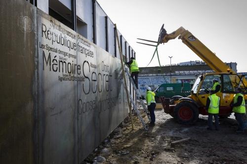 Photographie réalisée sur le chantier de construction de l'Office Notarial Ast & Carcelle réalisé par l'architecte Thierry Bonne. | Philippe DUREUIL Photographie