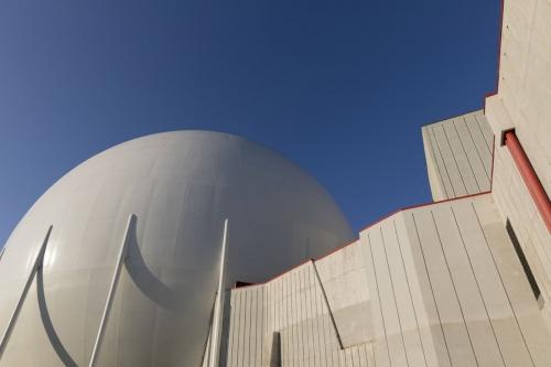 Photo d'architecture de la centrale nucléaire de Garigliano en Italie dessinée par l'architecte Riccardo Morandi. | Philippe DUREUIL Photographie