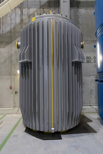 Conteneur de déchets radioactifs à l'entrepôt de stockage de la centrale de Greifswald. | Philippe DUREUIL Photographie