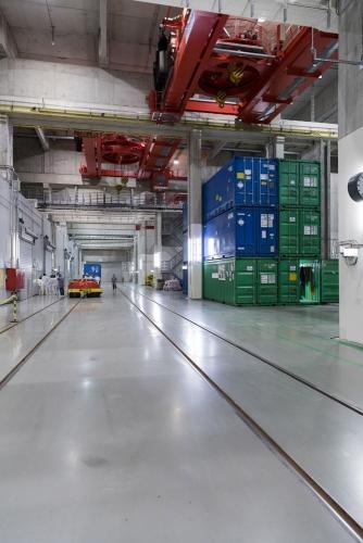Entrepôt de stockage des déchets, Interim Storage Facility North (ISFN) à la centrale de Greifswald, Alemagne. | Philippe DUREUIL Photographie