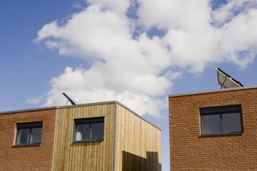 Bâtiments HQE en construction dans un écoquartier | Philippe DUREUIL Photographie