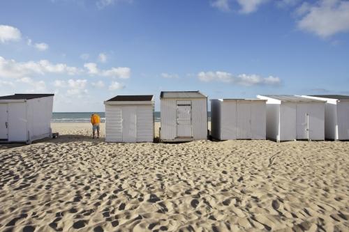 Cabines de plage sur la plage de Calais | Philippe DUREUIL Photographie