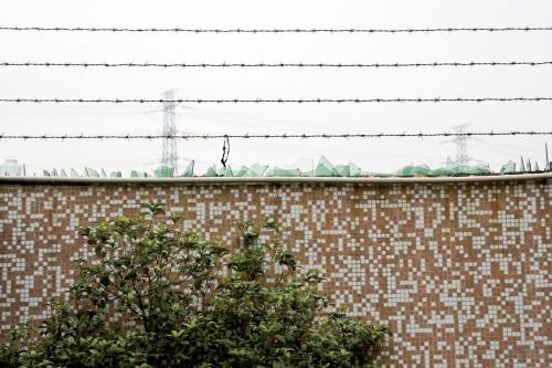 Mur avec des barbelés et des tessons de verre | Philippe DUREUIL Photographie