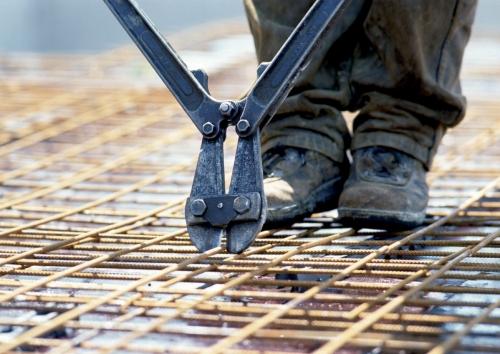 Photographie industrielle réalisée sur un chantier BTP. Pose de de treillis soudés. | Philippe DUREUIL Photographie