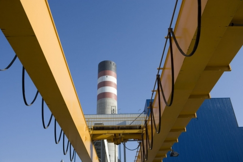 Photo industrielle graphique d'une centrale de production d'électricité en Espagne | Philippe DUREUIL Photographie