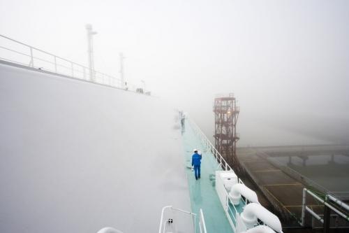 Reportage industriel réalisé sur le terminal méthanier de Montoir de Bretagne pour le groupe GDFSUEZ | Philippe DUREUIL Photographie