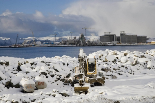 Reportage sur la construction du terminal méthanier de Snøhvit en Norvège - Reportage industriel BTP réalisé pour GDFSUEZ | Philippe DUREUIL Photographie