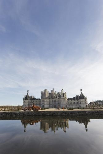 Photo de reportage sur les travaux de restitution des jardins à la française du château de Chambord. | Philippe DUREUIL Photographie