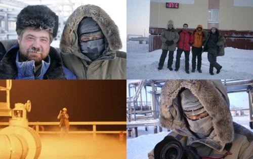 Reportage photo sur les hommes au travail réalisé en Sibérie pour Gaz de France. | Philippe DUREUIL Photographie