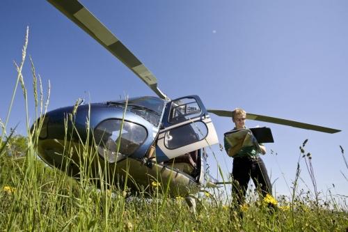 Reportage sur la surveillance des réseaux de gaz naturel par hélicoptère réalisé pour GRTgaz | Philippe DUREUIL Photographie