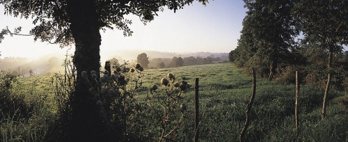 Photo panoramique de paysage réalisée dans le département du Cantal, France. | Philippe DUREUIL Photographie
