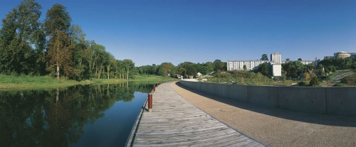 Photo panoramique du parc arboretum de Montfermeil réalisée pour l'agence de paysage et d'architecture Pasodoble | Philippe DUREUIL Photographie