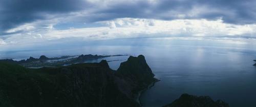 Photographie panoramique réalisée aux îles Lofoten en Norvège. | Philippe DUREUIL Photographie