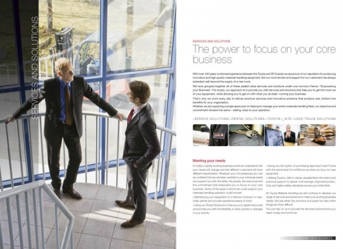 Photos corporate réalisées pour illustrer une brochure commerciale B to B - Annonceur : Toyota Material Handling Europe - Agence : Thélème - DA: Brigitte Chenu | Philippe DUREUIL Photographie