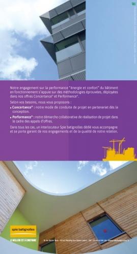 Dépliant commercial Eco-Offres - Annonceur : Spie batignolles - Agence : Thélème - DA : Brigitte Chenu - Photographe dévellopement durable : Philippe Dureuil | Philippe DUREUIL Photographie