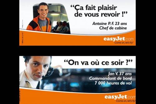 Annonceur : EasyJet - Agence : L'agence libre - DC : Fabrice Rondon - Photographies de portraits pour la publicité | Philippe DUREUIL Photographie