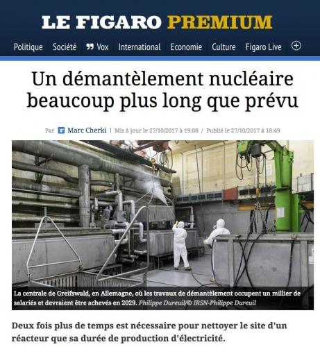 Reportage photo sur le démantèlement nucléaire. Parution sur le site Internet du Figaro. Article de Marc Cherki. | Philippe DUREUIL Photographie