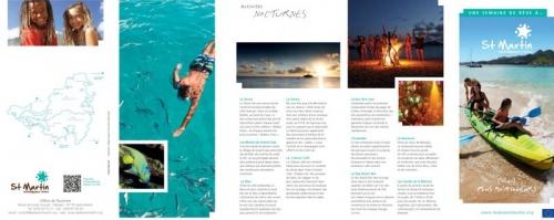 Dépliant touristique - Agence : Horizon Bleu - Annonceur : Office du Tourisme de l'île de Saint-Martin - DC : Jérôme Dumas | Philippe DUREUIL Photographie