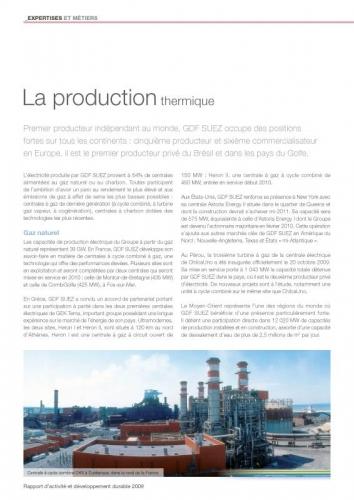 Photo panoramique industrielle illustrant un rapport d'activité et développement durable GDF SUEZ | Philippe DUREUIL Photographie