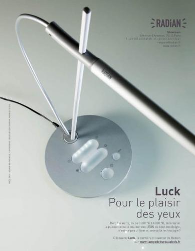 Plaquette produit - Annonceur : Radian Éclairage - Agence : Waixing® - DA : Régis BIECHER | Philippe DUREUIL Photographie