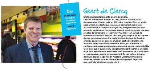 Photographie de portrait réalisée en magasin pour illustrer le Rapport Annuel du Groupe Carrefour 2013 à la rubrique témoignages. | Philippe DUREUIL Photographie