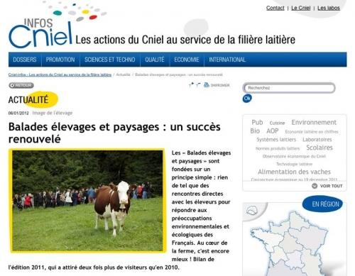 Illustration du site Internet du CNIEL | Philippe DUREUIL Photographie