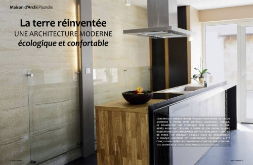 Photographie d'architecture intérieure réalisée pour l'architecte Thierry Bonne. Construction d'habitations en pisé. | Philippe DUREUIL Photographie