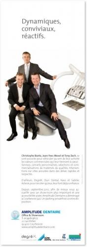Annonce Presse publicitaire - Annonceur : Amplitude dentaire - Agence : Waixing® - DA : Régis BIECHER | Philippe DUREUIL Photographie