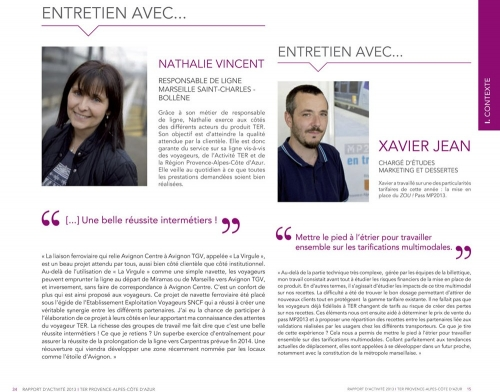 Photos corporate de portraits réalisées pour le Rapport Annuel d'Activité 2013 TER Provence-Alpes-Côte d'Azur. Conception graphique : Agence Bolivie. | Philippe DUREUIL Photographie