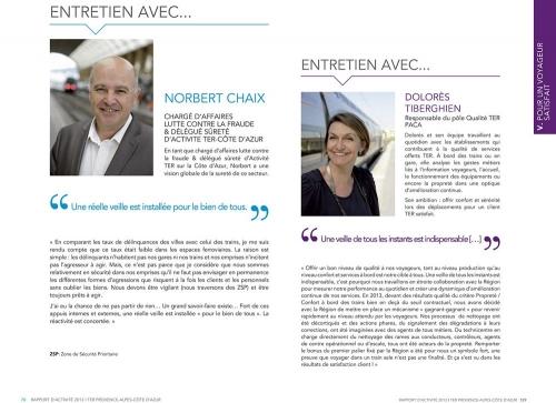 Photographies de portraits corporate réalisées sur le terrain pour le Rapport Annuel d'Activité 2013 TER Provence-Alpes-Côte d'Azur. Conception graphique : Agence Bolivie. | Philippe DUREUIL Photographie
