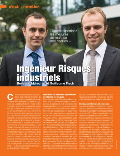 Portrait corporate pour le magazine interne Login - Annonceur : Total - Agence : Textuel La Mine - DA : Moly Richez | Philippe DUREUIL Photographie