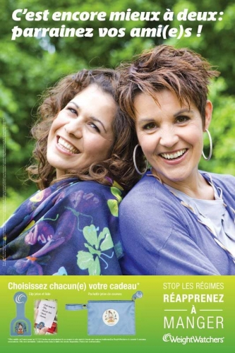 Photo illustrant une affiche publicitaire WeightWatchers® | Philippe DUREUIL Photographie