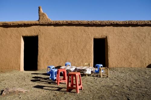 Maison en pisé dans le désert du Sagho au Maroc | Philippe DUREUIL Photographie