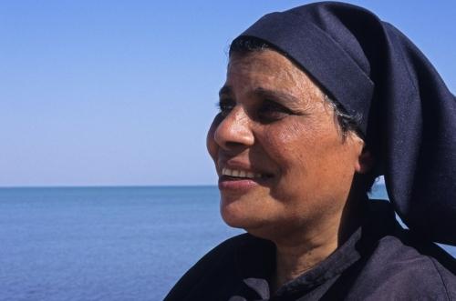 Portrait de Sœur Sara réalisé Égypte | Philippe DUREUIL Photographie