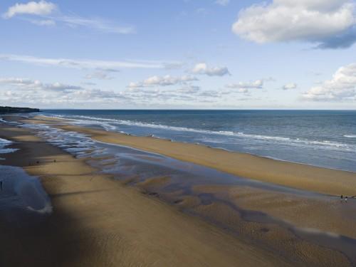 Photographie de paysage vue du ciel, Omaha-Beach, Calvados, Normandie. | Philippe DUREUIL Photographie