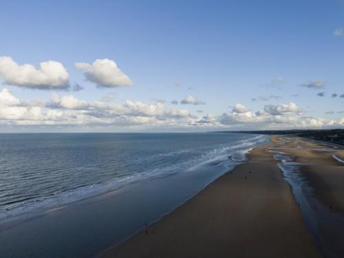 Plage Omaha-Beach vue du ciel. | Philippe DUREUIL Photographie