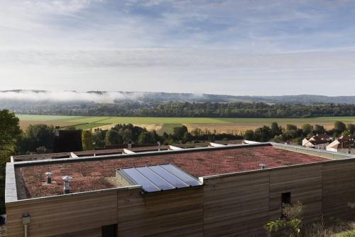 Photographie avec drone au service des architectes - Photo aérienne d'une toiture végétalisée | Philippe DUREUIL Photographie