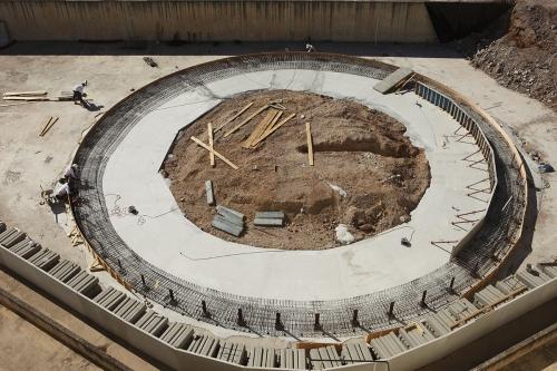 Vue aérienne d'un chantier de construction photographié par drone | Philippe DUREUIL Photographie