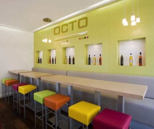 Architecture commerciale, photographie d'architecture intérieure & décoration d'un restaurant rapide réalisée pour l'agende d'architecture et design Idoine | Philippe DUREUIL Photographie