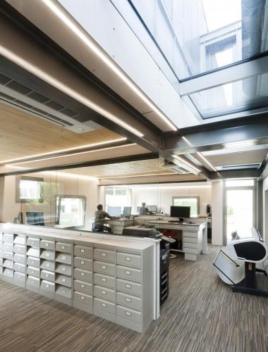 Photo d'architecture intérieure, extension de bureaux. Architecte Thierry Bonne | Philippe DUREUIL Photographie