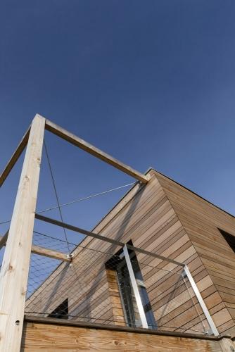 Photo d'architecture d'une maison à ossature bois. Architecte Thierry Bonne | Philippe DUREUIL Photographie
