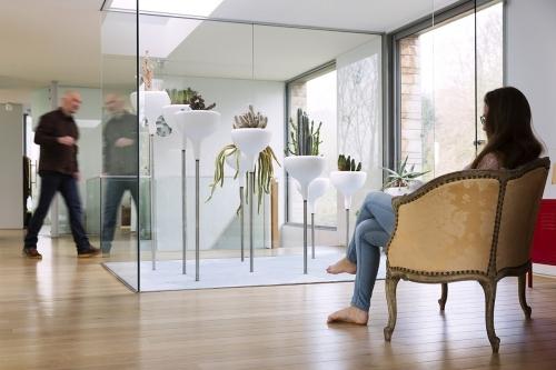 Photographie d'une serre d'intérieure Design réalisée pour l'architecte paysagiste & designer Ursula Kurz de l'agence Pasodoble. Architecte de la maison, Thierry Bonne | Philippe DUREUIL Photographie