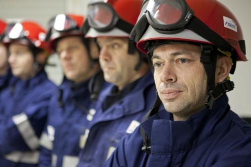 Reportage photo sur un exercice de la FARN réalisé pour EDF. Agence : Toma | Philippe DUREUIL Photographie