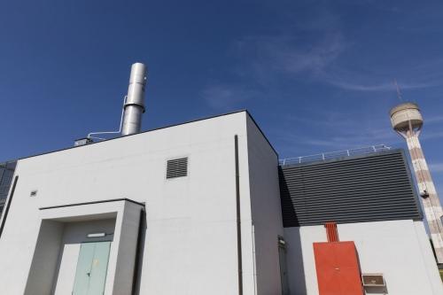 Photo extérieure du bâtiment de stockage des déchets à la centrale nucléaire de Garigliano, Italie. | Philippe DUREUIL Photographie