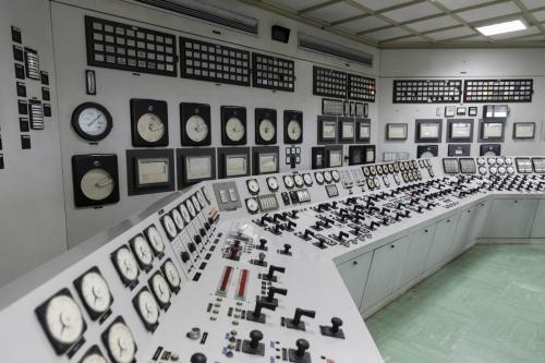 Salle des commandes de la centrale nucléaire en déconstruction de Garigliano en Italie | Philippe DUREUIL Photographie